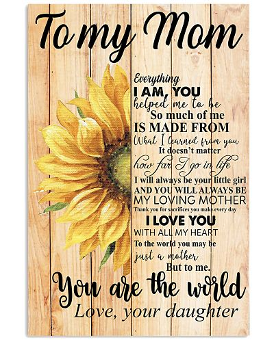 Poster - To My Mom You Are The World