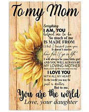 Poster - To My Mom You Are The World  11x17 Poster front