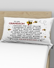 Pop Pop and Mom Mom - Grandson Rectangular Pillowcase aos-pillow-rectangular-front-lifestyle-02