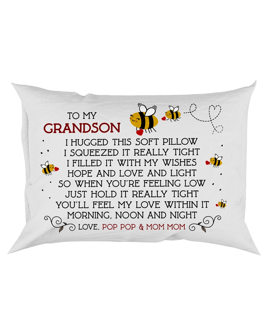 Pop Pop and Mom Mom - Grandson Rectangular Pillowcase