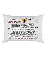 Pop Pop and Mom Mom - Grandson Rectangular Pillowcase front