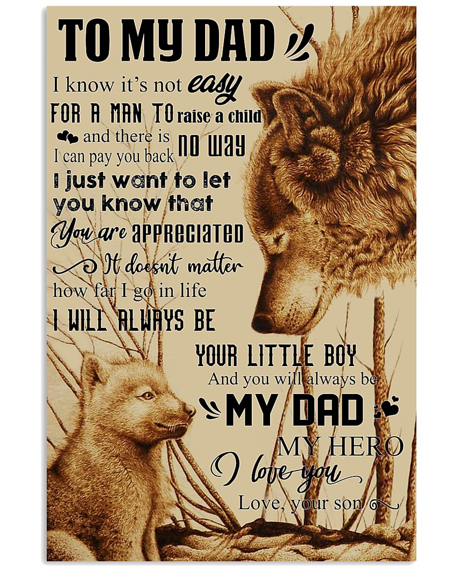 To My Dad - Wolf - Poster Son 11x17 Poster