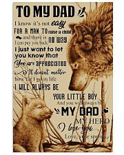 To My Dad - Wolf - Poster Son 11x17 Poster front