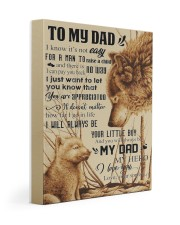 To My Dad - Wolf - Poster Son 11x14 Gallery Wrapped Canvas Prints thumbnail