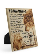 To My Dad - Wolf - Poster Son 8x10 Easel-Back Gallery Wrapped Canvas thumbnail