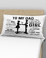 Pillow - To My Dad - Daughter Rectangular Pillowcase aos-pillow-rectangular-front-lifestyle-02