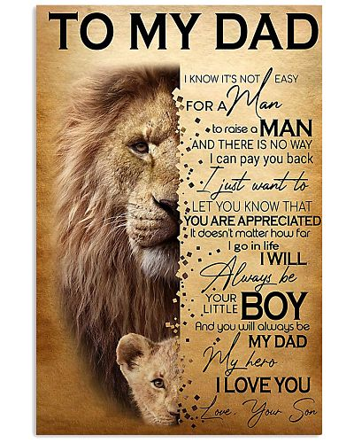 To My Dad Lion - Son Poster
