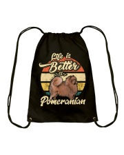 LIFE IS BETTER WITH A POMERANIAN Drawstring Bag thumbnail