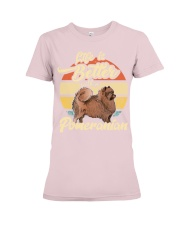 LIFE IS BETTER WITH A POMERANIAN Premium Fit Ladies Tee thumbnail