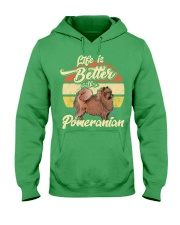LIFE IS BETTER WITH A POMERANIAN Hooded Sweatshirt thumbnail
