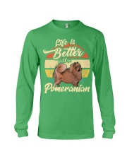 LIFE IS BETTER WITH A POMERANIAN Long Sleeve Tee thumbnail
