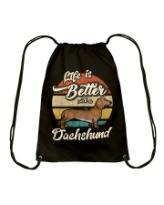 LIFE IS BETTER WITH A DACHSHUND Drawstring Bag tile