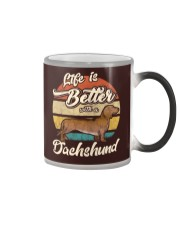 LIFE IS BETTER WITH A DACHSHUND Color Changing Mug tile