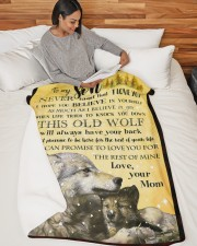 "TO MY SON Large Sherpa Fleece Blanket - 60"" x 80"" aos-sherpa-fleece-blanket-60x80-lifestyle-front-06"
