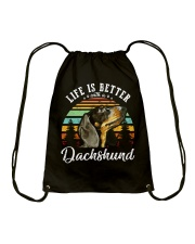 LIFE IS BETTER WITH A DACHSHUND Drawstring Bag thumbnail