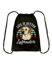 LIFE IS BETTER WITH A LABRADOR Drawstring Bag thumbnail