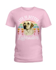 LIFE IS BETTER WITH A LABRADOR Ladies T-Shirt thumbnail
