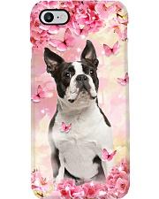 BOSTON TERRIER FLOWER PHONE CASE Phone Case i-phone-8-case