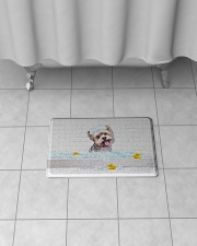 "YORKIE BATH MAT - DOORMAT Bath Mat - 24"" x 17"" aos-accessory-bath-mat-24x17-lifestyle-front-06"