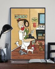 POOPIN WITH POODLES POSTER 11x17 Poster lifestyle-poster-2