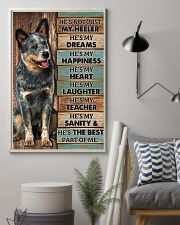 HE'S NOT JUST MY HEELER 11x17 Poster lifestyle-poster-1