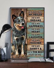 HE'S NOT JUST MY HEELER 11x17 Poster lifestyle-poster-2