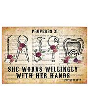 SHE WORKS WILLINGLY WITH HER HANDS 17x11 Poster front