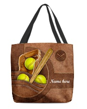SOFTBALL BAG-ACCESSORY POUCH-PILLOW All-over Tote front
