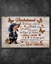 DACHSHUND HERITAGE OF LOVE POSTER 17x11 Poster aos-poster-landscape-17x11-lifestyle-12