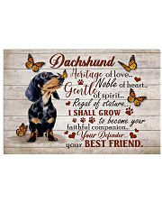 DACHSHUND HERITAGE OF LOVE POSTER 17x11 Poster front