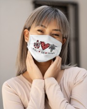 PEACE LOVE THERAPY Cloth face mask aos-face-mask-lifestyle-17