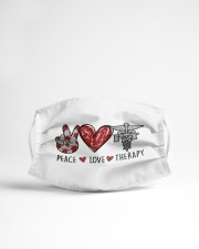 PEACE LOVE THERAPY Cloth face mask aos-face-mask-lifestyle-22