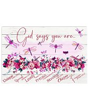 DRAGONFLY - GOD SAYS YOU ARE 17x11 Poster front