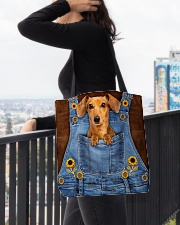 DACHSHUND CLOTH TOTE-ACCESSORY POUCH-PILLOW All-over Tote aos-all-over-tote-lifestyle-front-05