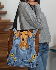 DACHSHUND CLOTH TOTE-ACCESSORY POUCH-PILLOW All-over Tote aos-all-over-tote-lifestyle-front-09