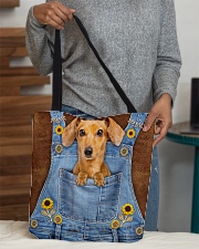 DACHSHUND CLOTH TOTE-ACCESSORY POUCH-PILLOW All-over Tote aos-all-over-tote-lifestyle-front-10