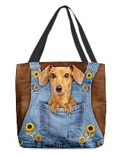 DACHSHUND CLOTH TOTE-ACCESSORY POUCH-PILLOW All-over Tote back