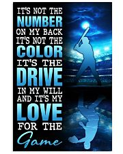 BASEBALL POSTER - IT'S NO THE NUMBER ON MY BACK 11x17 Poster front