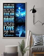 BASEBALL POSTER - IT'S NO THE NUMBER ON MY BACK 11x17 Poster lifestyle-poster-1