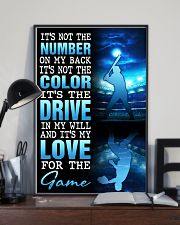 BASEBALL POSTER - IT'S NO THE NUMBER ON MY BACK 11x17 Poster lifestyle-poster-2