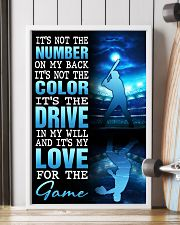 BASEBALL POSTER - IT'S NO THE NUMBER ON MY BACK 11x17 Poster lifestyle-poster-4