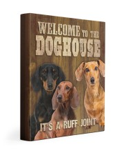 DACHSHUND - WELCOME TO THE DOG HOUSE 11x14 Gallery Wrapped Canvas Prints front