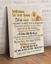 POMERANIAN - CANVAS WELCOME TO OUR HOME 11x14 Gallery Wrapped Canvas Prints aos-canvas-pgw-11x14-lifestyle-front-07