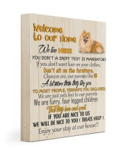POMERANIAN - CANVAS WELCOME TO OUR HOME 11x14 Gallery Wrapped Canvas Prints front