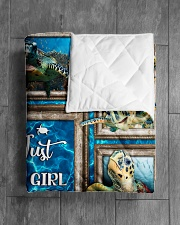 """JUST A GIRL WHO LOVES TURTLES QUILT Quilt 50""""x60"""" - Throw aos-quilt-50x60-lifestyle-closeup-front-04"""