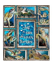 """JUST A GIRL WHO LOVES TURTLES QUILT Quilt 50""""x60"""" - Throw front"""
