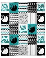 """SLOTH LIVE LOVE QUILT - BLANKET  Fleece Blanket - 50"""" x 60"""" front"""