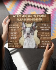BOSTON TERRIER CANVAS 14x11 Gallery Wrapped Canvas Prints aos-canvas-pgw-14x11-lifestyle-front-24