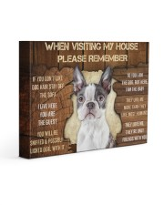BOSTON TERRIER CANVAS 14x11 Gallery Wrapped Canvas Prints front