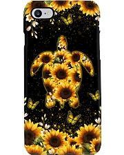 TURTLE AND SUNFLOWER - PHONE CASE Phone Case i-phone-8-case
